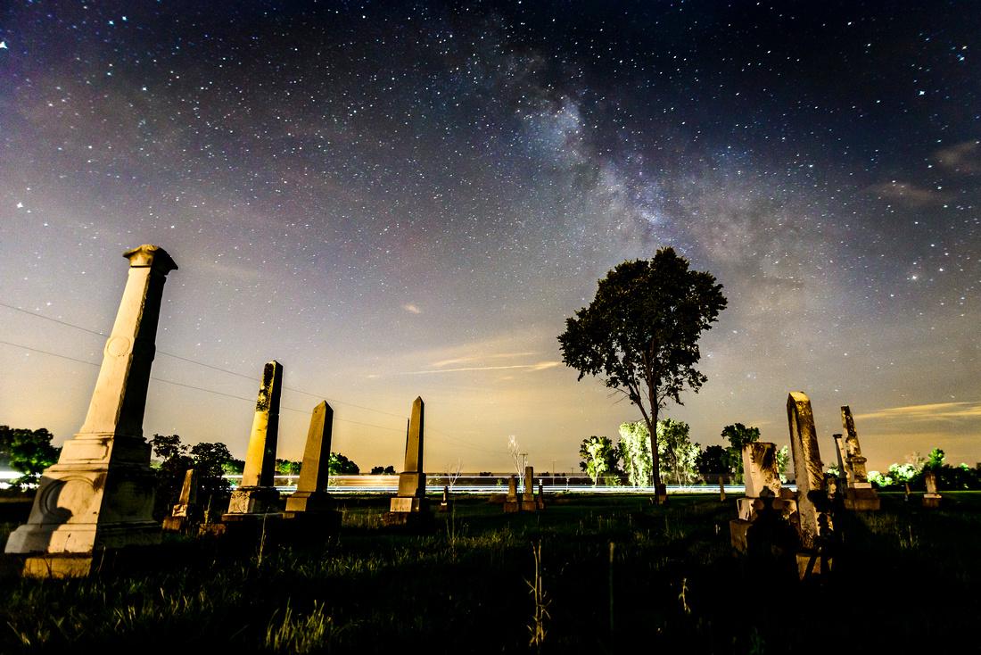 Milky Way and Train