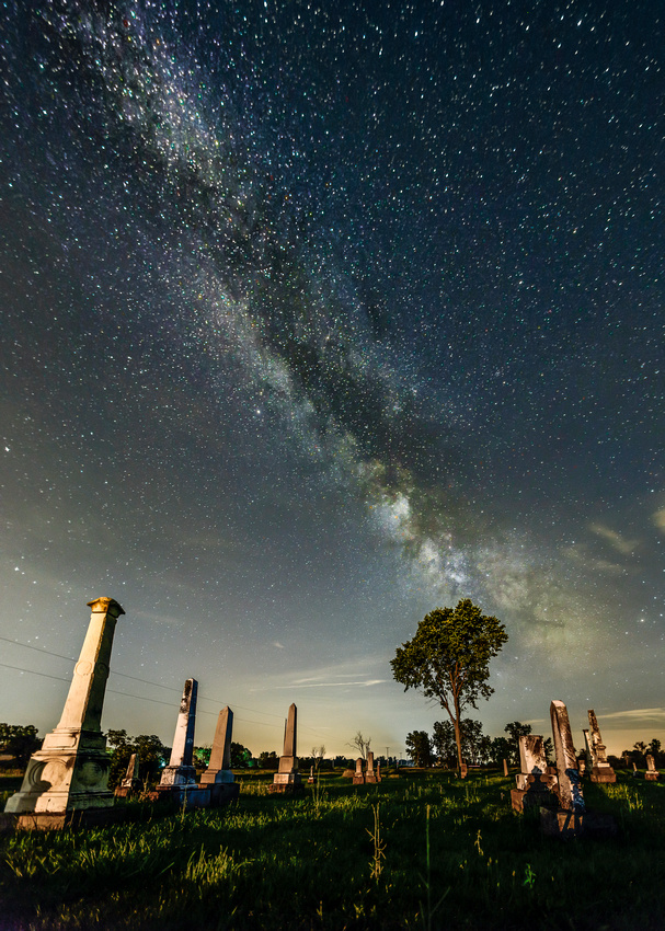 Milky Way and Graveyard
